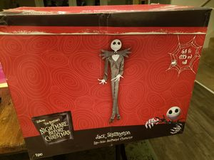 NIB Life-Size Jack Skellington from Nightmare Before Christmas animatronic character. 6.4 foot tall. for Sale in San Antonio, TX