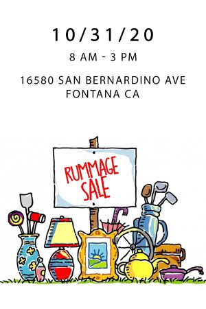 🍃 coming soon ... Saturday , October 31st - Rummage $ale 🍃 for Sale in Fontana, CA