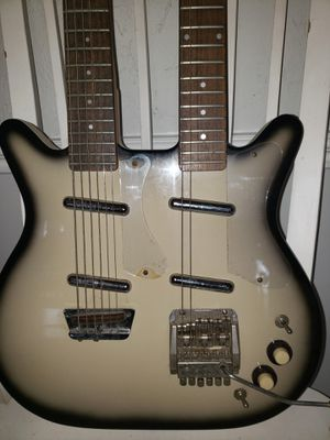 Dan Electro Double neck guitar for Sale in Richmond, TX