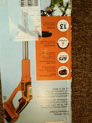 Black & Decker 40V Trimmer for Sale in Upper Darby, PA