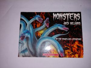 Monsters and villains book for Sale in San Antonio, TX