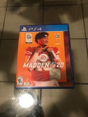 Madden 20 ps4 for Sale in Chicago, IL