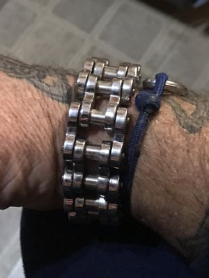 Heavy Stainless Steel Biker Bracelet for Sale in Payson, AZ