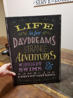 Chalkboard art decor for Sale in Kennewick, WA