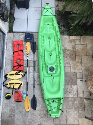 Crescent Kayak w/ supplies + duffle storage for Sale in Miami, FL