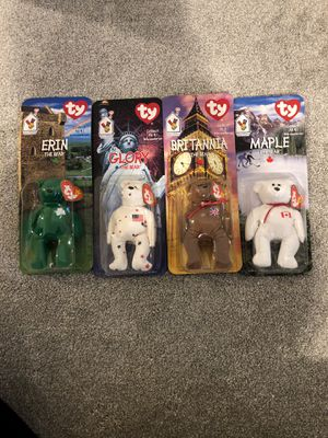 1999 International Bears Beanie Babies Set for Sale in Chicago, IL