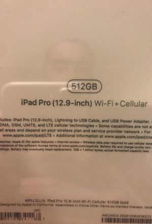 Brand new iPad 12.9 512gb for Sale in Portland, OR