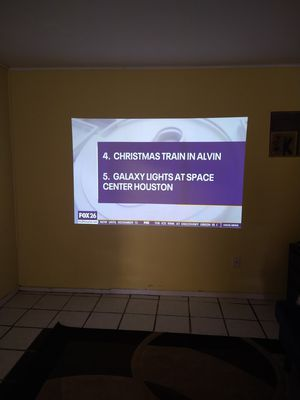 Lg mini beam projector and yamaha surround sound for Sale in Baytown, TX