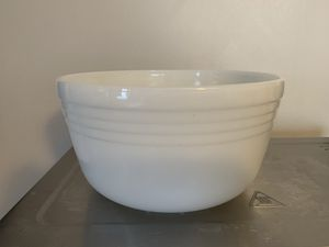 Pyrex Hamilton Beach ribbed milk glass mixing bowl vintage mid century for Sale in Milwaukee, WI