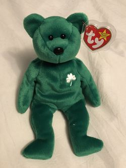 Beanie Babies Green Erin bear 1997 With Tag for Sale in Gresham,  OR