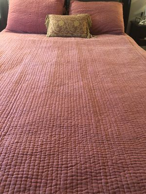 Pottery Barn Bedspread Set Grand King 100% Silk for Sale in McLean, VA