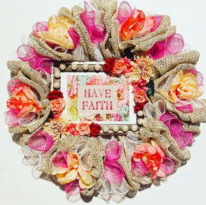 Floral inspirational wreath for Sale in Bakersfield, CA