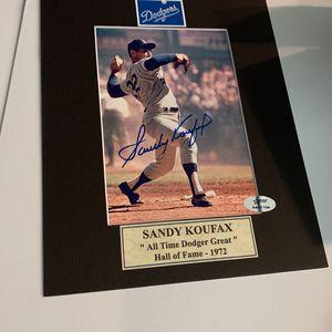 Sandy Koufax Autograph for Sale in Boca Raton, FL