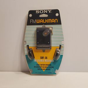 Vintage Sony Walkman SRF-36 Radio FM Stereo Receiver With Headphones Sealed RARE. for Sale in undefined