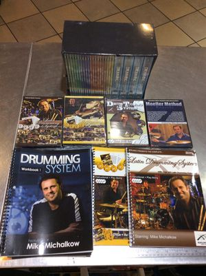 MIKE MICHALKOW DVD BOX SET/ BOOKS LEARNING DRUMS for Sale in Phoenix, AZ