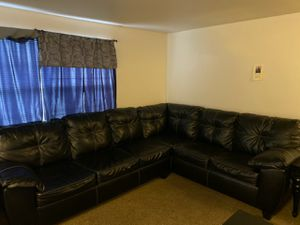 Sectional couch with recliner chair for Sale in Columbus, OH
