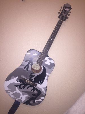 Black Epiphone guitar Camo Wrapped for Sale in Las Vegas, NV
