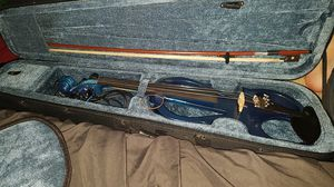 Blue Electric violin with case for Sale in Cary, NC