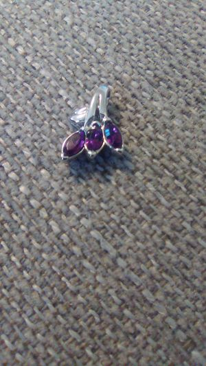 Sterling silver Amythist charm never worn for Sale in Greensburg, PA
