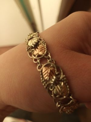 12k rose gold, green gold, & Sterling silver bracelet for Sale in Akron, OH