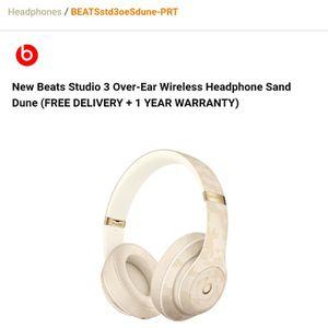 Beats Studio 3 Sand Dune Wireless Head Phones (No Warranty) for Sale in Las Cruces, NM