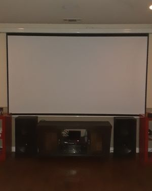 """120"""" drop down movie screen with remote for Sale in Hawthorne, CA"""
