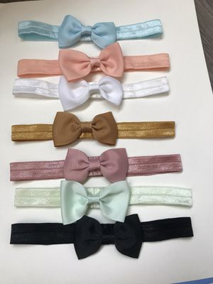 Baby small bow headbands for Sale in Johnson City, NY