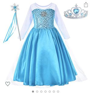 Princess Costume for Girls Dress Up with Accessories Toddler Little Girls for Sale in Corona, CA