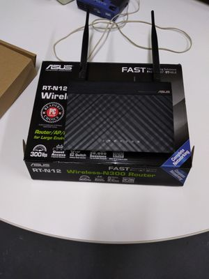ASUS rt-N12 3 in 1 router wireless N300 for Sale in Binghamton, NY