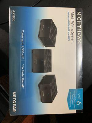 NETGEAR NIGHTHAWK WIFI 6 MESH SYSTEM for Sale in Spencerville, MD