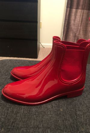Red rain boots 9.5 for Sale in Bowie, MD
