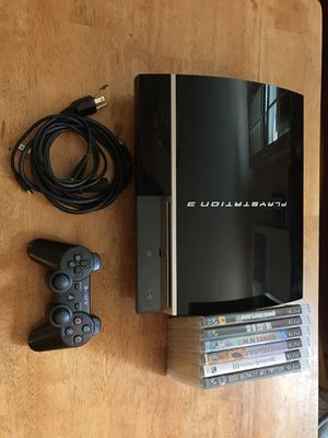 PS3 + CONTROLLER + 6 GAMES for Sale in Washington, DC