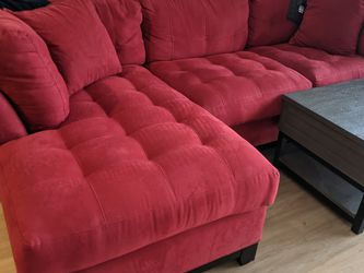 Red Couch Sofa Sectional with Chaise Lounge for Sale in Wilmington,  DE