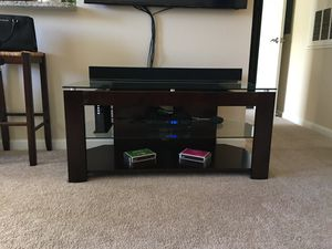 Glass TV stand for Sale in Centreville, VA
