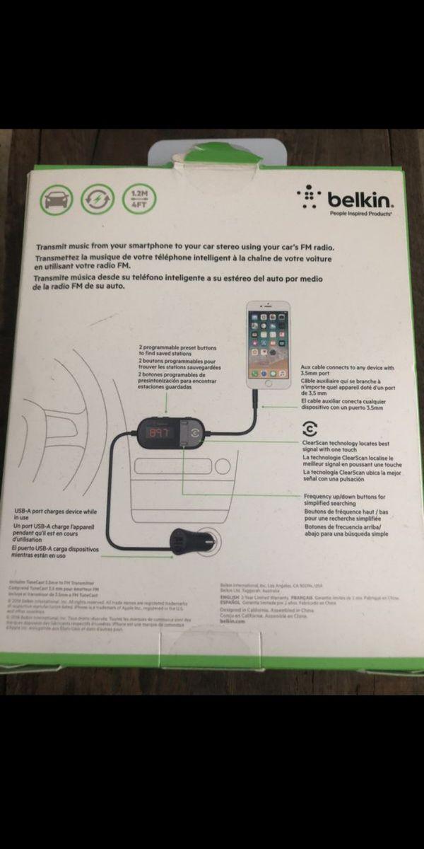 Belkin in-car 3.5mm to fm transmitter