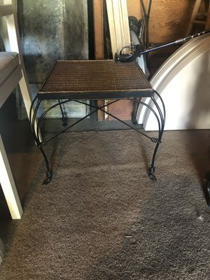 Small Wicker and Wire Side Table for Sale in Los Angeles, CA