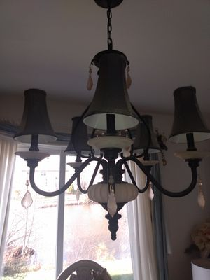 Modern black Chandelier and 4 Sconces for Sale in Wheaton, IL