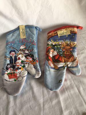 New Pair (2) Christmas Pot Holders - Snowman & Santa for Sale in El Mirage, AZ