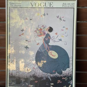 Vogue Poster From 1916 Cover In Frame for Sale in Los Angeles, CA