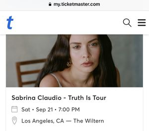 Sabrina Claudio Ticket 9/21/19 for Sale in Downey, CA