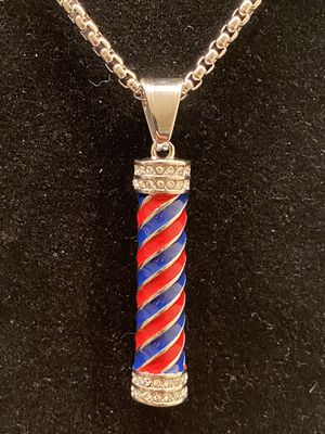 Stainless steel barber pendant with chain for Sale in Atlanta, GA