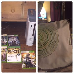 Exbox 360 with games and bag for Sale in Spring Hill, FL