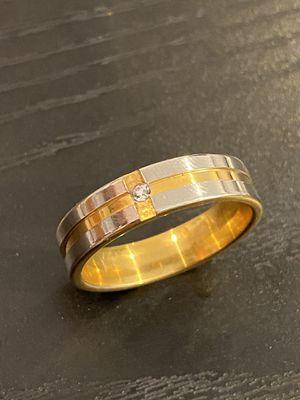 Unisex - 18K Gold bond Engagement Ring- Fashion Designed Diamond Ring for Sale in Dallas, TX