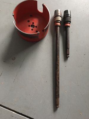 """Milwaukee 4 5/8"""" wood hole saw bit with two quick lock extensions for Sale in Hudson, FL"""