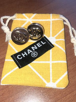 Authentic vintage Designer Repurposed button statement earrings| repurposed designer| Upcycled earring for Sale in Yorktown Heights, NY
