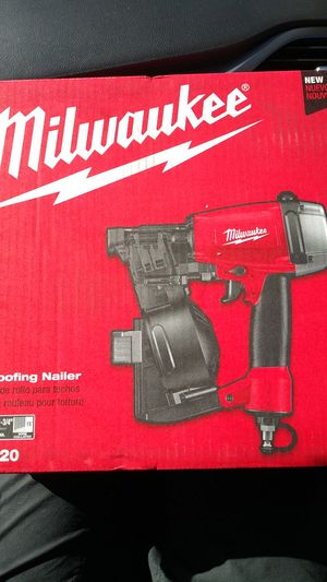 Milwaukee Pneumatic 1-3/4 in. 15 Degree Coil Roofing Nailer Was 249.00 Now 139.00 New for Sale in San Diego, CA