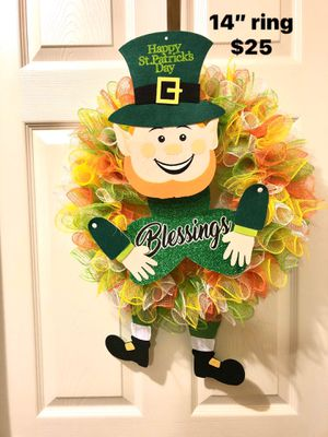 St Patrick Day door wreath for Sale in Florence, KY