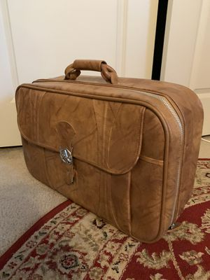 Vintage leather suitcase for Sale in Austin, TX
