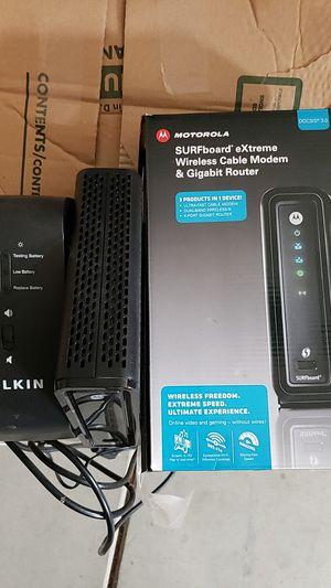 Cable Modem and Belkin UPS for Sale in Elk Grove, CA