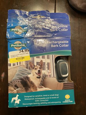 Pet safe rechargeable bark collar for Sale in Clarksville, TN